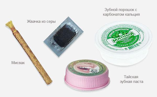 Альтернативные средства для чистки зубов