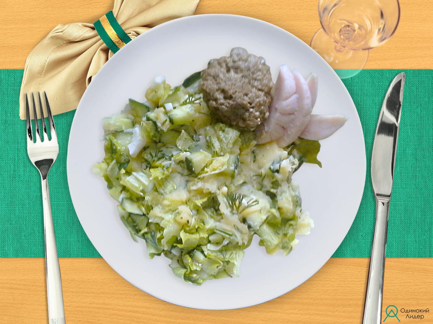 Картофельное пюре с зеленью