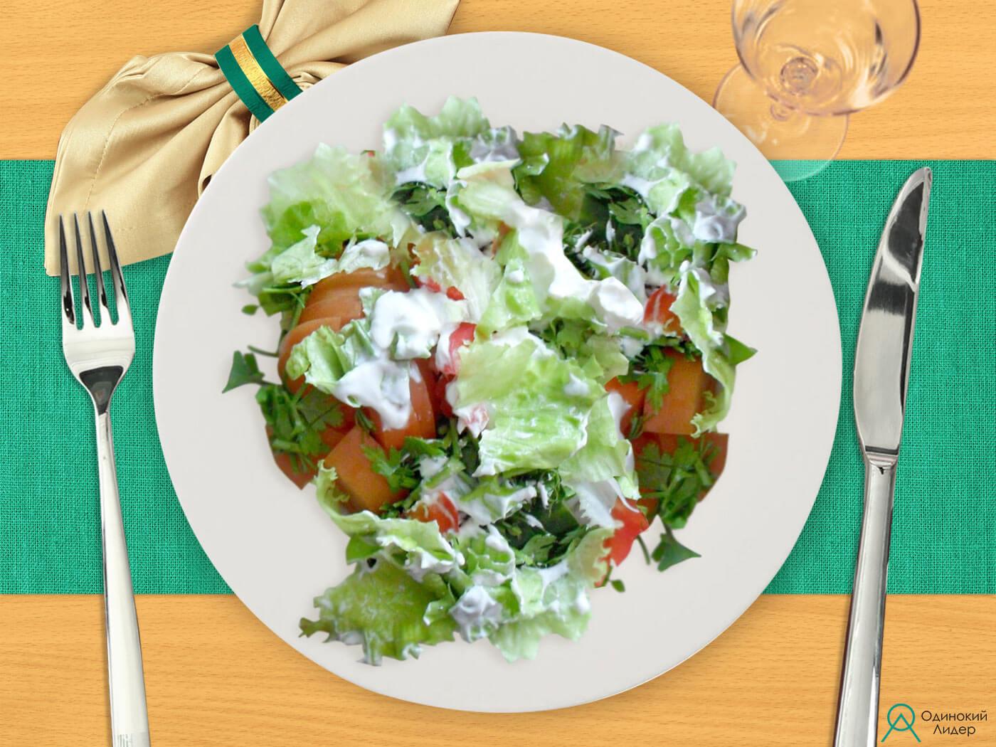 Простой овощной салат