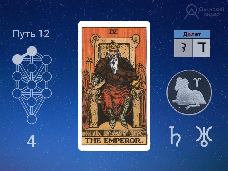 Иврит - Далет, Таро - Император. Расшифровка Бытие 2:4-6